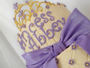 Close-up of the Princess Crown Cake
