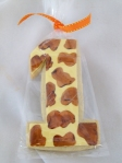 "Hand-painted Giraffe ""1"" Cookies"