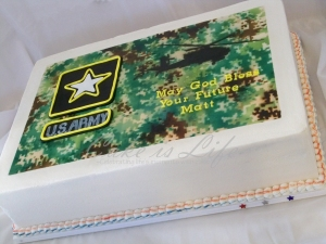 Army Going-Away Cake