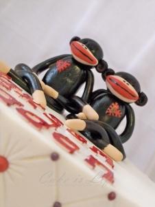 Close-up of Sock Monkey Twins