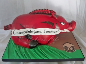Arkansas Razorbacks Cake