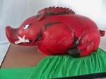 Arkansas Razorbacks Cake, back view