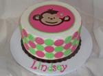 Mod Monkey Birthday Cake