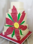 Mosaic Daisy Wedding Cake