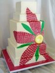 Mosaic Daisy Wedding Cake