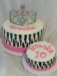 Zebra Princess Birthday Cake